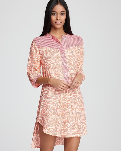 Kensie Sidewalk Café Long Sleeve Tunic