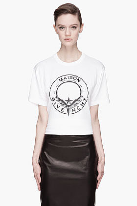 GIVENCHY White Maison Givenchy Shield print T-Shirt