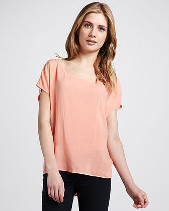Splendid Draped Georgette Tee