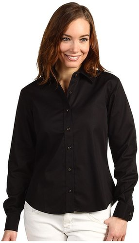 Christin Michaels - Augusta Button Down Shirt (Black) - Apparel