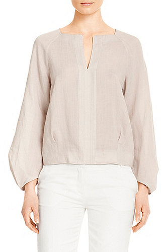 Elima Linen Blouse In New Moon