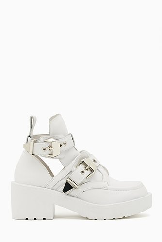 Coltrane Cutout Boot - White