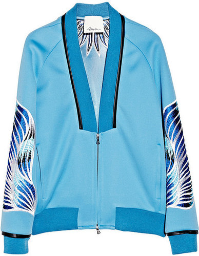 3.1 Phillip Lim Embroidered techno jersey bomber jacket