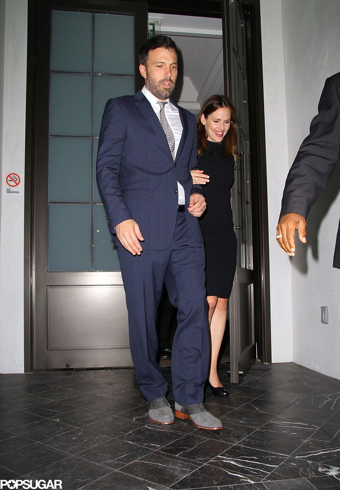 Ben and Jennifer got dressed up for a date night at Spago in Beverly Hills in October 2012.