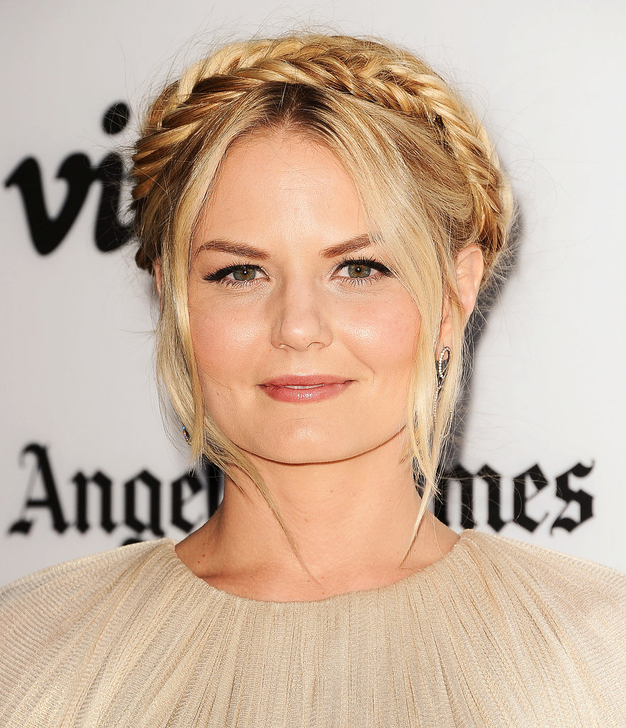 Jennifer Morrison was at the premiere of Some Girl(s) with a fun take on the classic milkmaid braid. Instead of a regular braid, she went for a fishtail braid to add a new kind of texture to the look. We saw a similar style on Beth Behrs, and here are tips straight from her stylist to get a similar look.