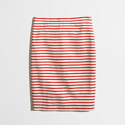 Factory pencil skirt in nautical stripe