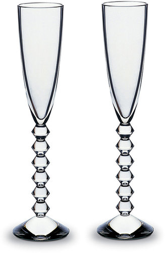 Baccarat Two Vega Flutissimos, Clear