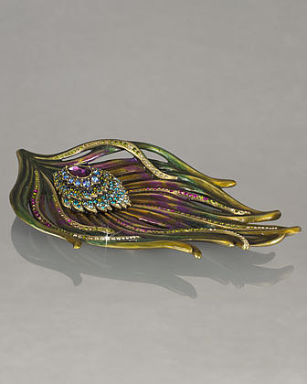 "Jay Strongwater ""Peacock"" Trinket Tray"