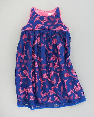 Milly Minis Magnolia Lace Twiggy Sleeveless Dress, Sizes 2-6