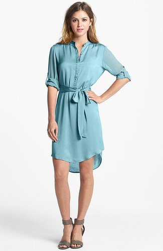 DKNYC Mixed Media Shirtdress