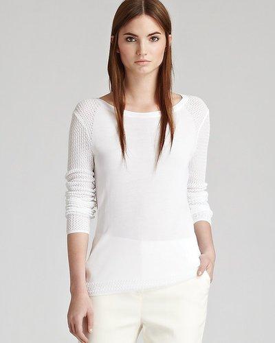 REISS Sweater - Katia Mesh Panel