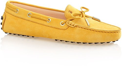Gommino Leather Moccasin Loafers With Front Tie