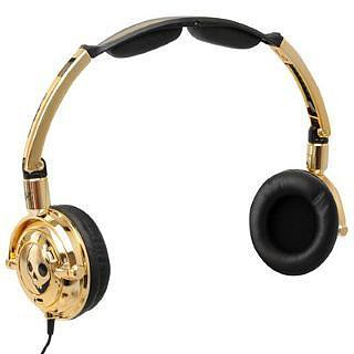 Skull Candy Lowrider Headphones - Gold