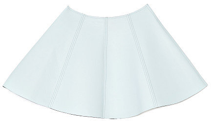 Preorder Opening Ceremony Dakota Seamed Leather Mini Skirt In Sky