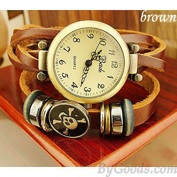 New punk style bronze Skull Vintage watches