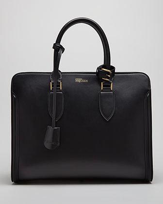 Alexander McQueen Heroine Open Tote Bag, Black