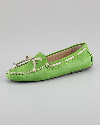 Vera Wang Lavender Dorian Suede Driving Moccasin, Green