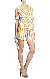 BCBGMAXAZRIA's Kelly Wrap-Top Romper