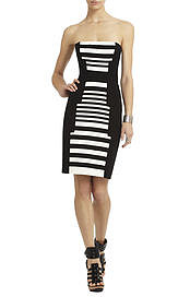 BCBGMAXAZRIA's Madison Striped Print-Blocked Dress