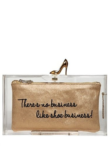 Loves Shoes Pandora Perspex Clutch