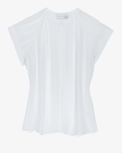 A.l.c. Short Sleeve Silk Blouse