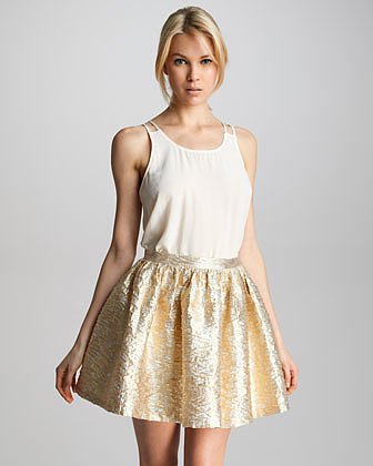 PJK Laverne Brocade Skirt