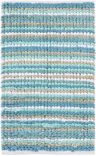 Next Teal Stripe Bath Mat