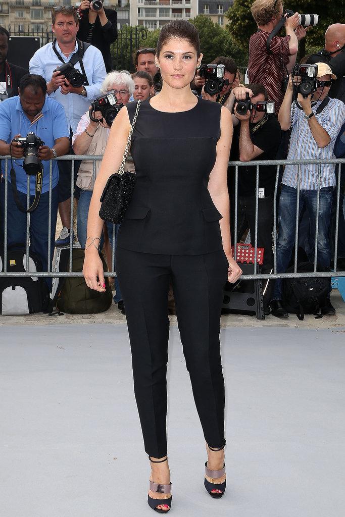 Gemma Arterton in Black Dior Top and Pants