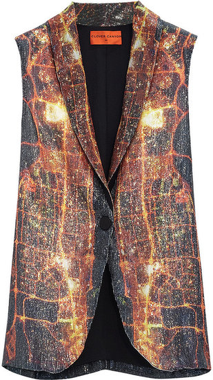 Clover Canyon Dubai In The Sky printed sequined vest