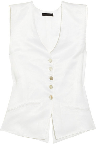 The Row Vamus brushed-twill vest