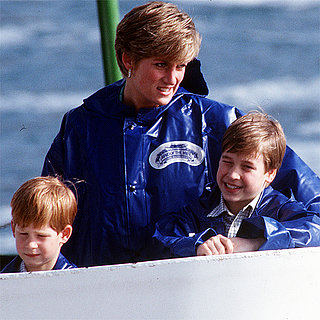 Princess Diana With Prince William & Prince
