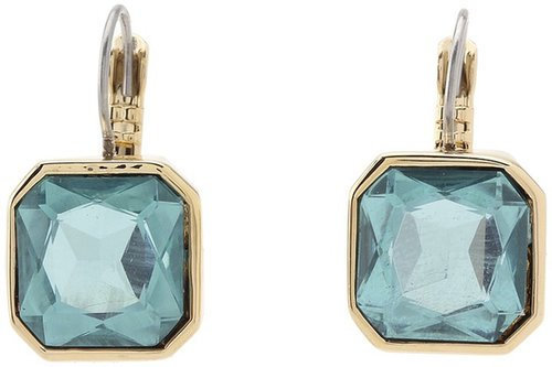 Marc by Marc Jacobs - Large Cushion Leverbacks (Aqua Foil) - Jewelry