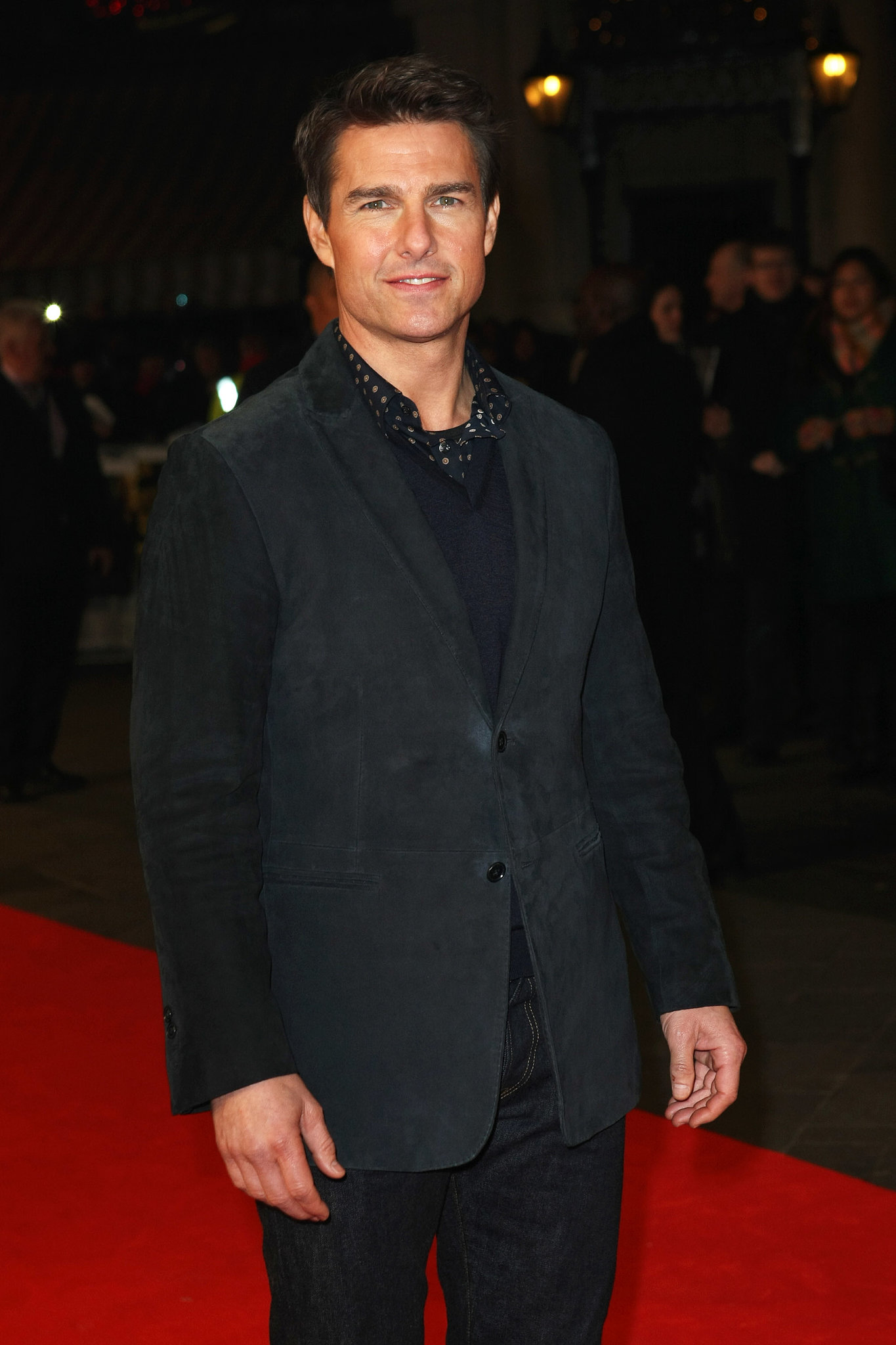 In London, Tom Cruise looked dapper on the red carpet at the world premiere of Jack Reacher in December 2012.