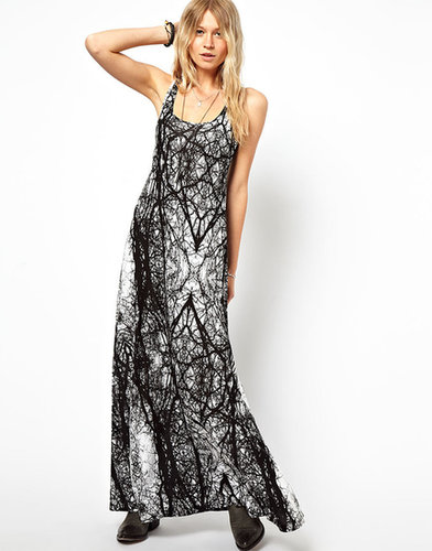 ASOS A-Line Tank Maxi Dress in Tree Print