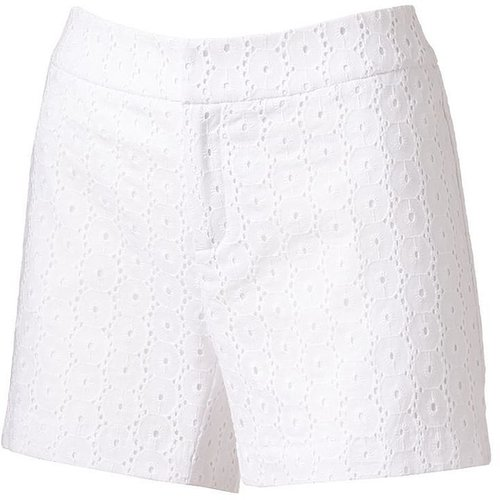 Ab studio eyelet shorts