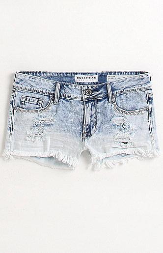 Bullhead Sno Cone Dip Dye Stud Shorts