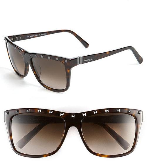 Valentino 56mm Studded Sunglasses