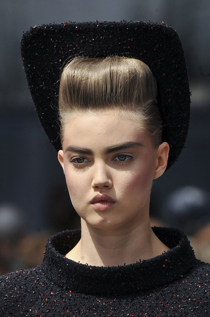 The exaggerated brows and rosy contour displayed at Chanel's couture showing are both trends we expect to see more of this Fall.