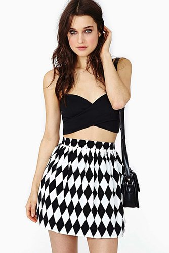 Diamond Cut Skater Skirt