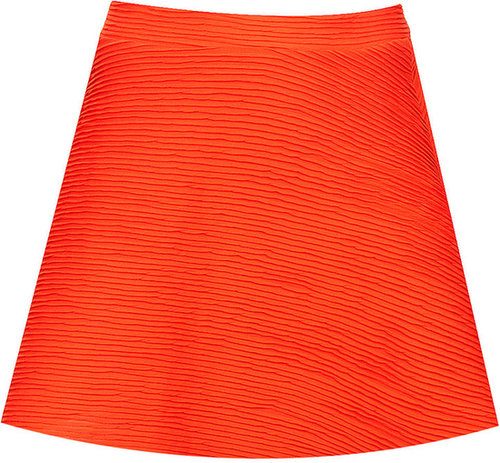 Orange Ottoman Skater Skirt