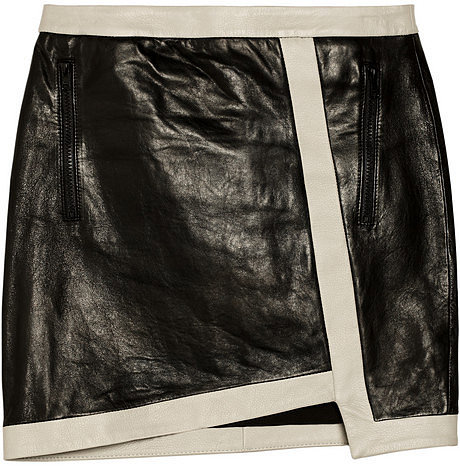 Helmut Lang Evolution leather mini skirt