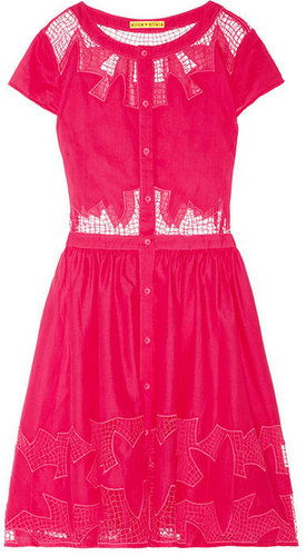 Alice + Olivia Papina embroidered cutout cotton dress