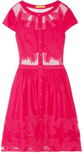 Alice + Olivia Papina embroidered cutout cotton dress