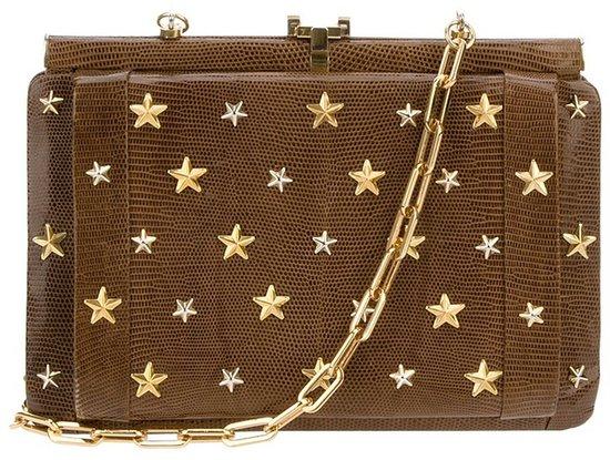 Cecilia Vintage star studded chain bag