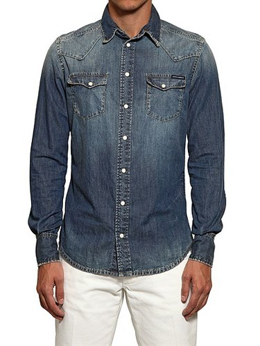 Dolce & Gabbana - Washed Cotton Denim Shirt