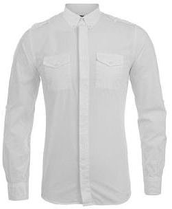 Dolce And Gabbana DOLCE AND GABBANA Epaulette Detail Wash Cotton Shirt