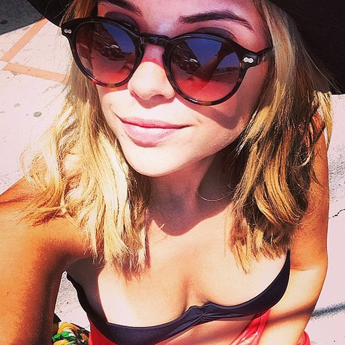 Ashley Benson chilled out in her bikini during a trip to Italy. Source: Instagram user itsashbenzo