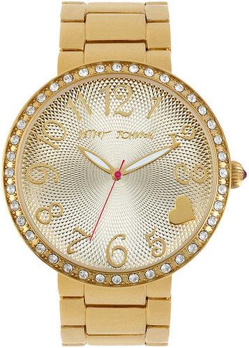 Betsey Johnson Watch, Women's Gold-Tone Stainless Steel Bracelet 43mm BJ00236-02