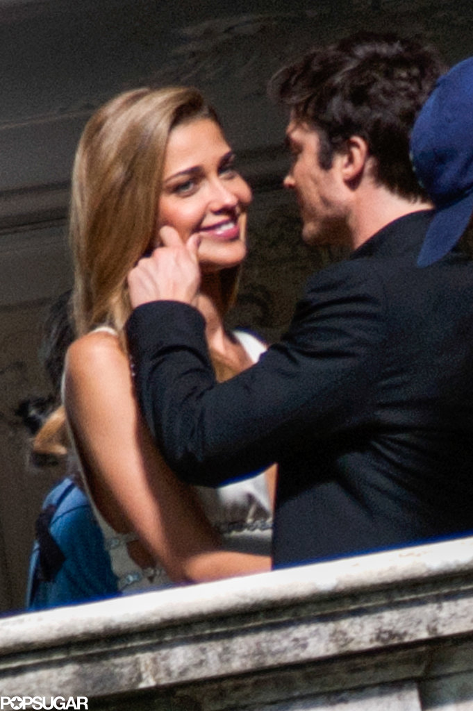 Ian Somerhalder shared a sweet moment with model Ana Beatriz Barros in Italy.