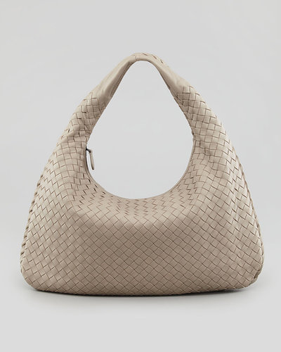 Bottega Veneta Medium Veneta Hobo Bag, Light Gray